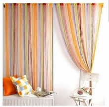 home decoration 300CM*300CM colorful string curtain line curtain multi-color rainbow  fringe panel room divider  window vanlance