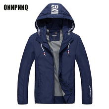 2017 New Spring Summer Mens Fashion Outerwear Windbreaker Men' S Thin Jackets Hooded Casual Sporting Coat Plus Size M-4XL