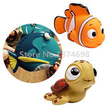 Finding Dory Nemo Dory and Squirt Set of 3 Baby Water Squirtees Bath Toy Cute Kids Toys Gifts