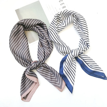 Silk scarf women 70*70 New fashion scarves small squares Head scarf women shawl Bag decorative scarves(China)