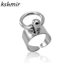 Size is adjustable Accessories wholesale minimalist wind Rings of metal fan ring joint ring Ladies fashion ring(China)