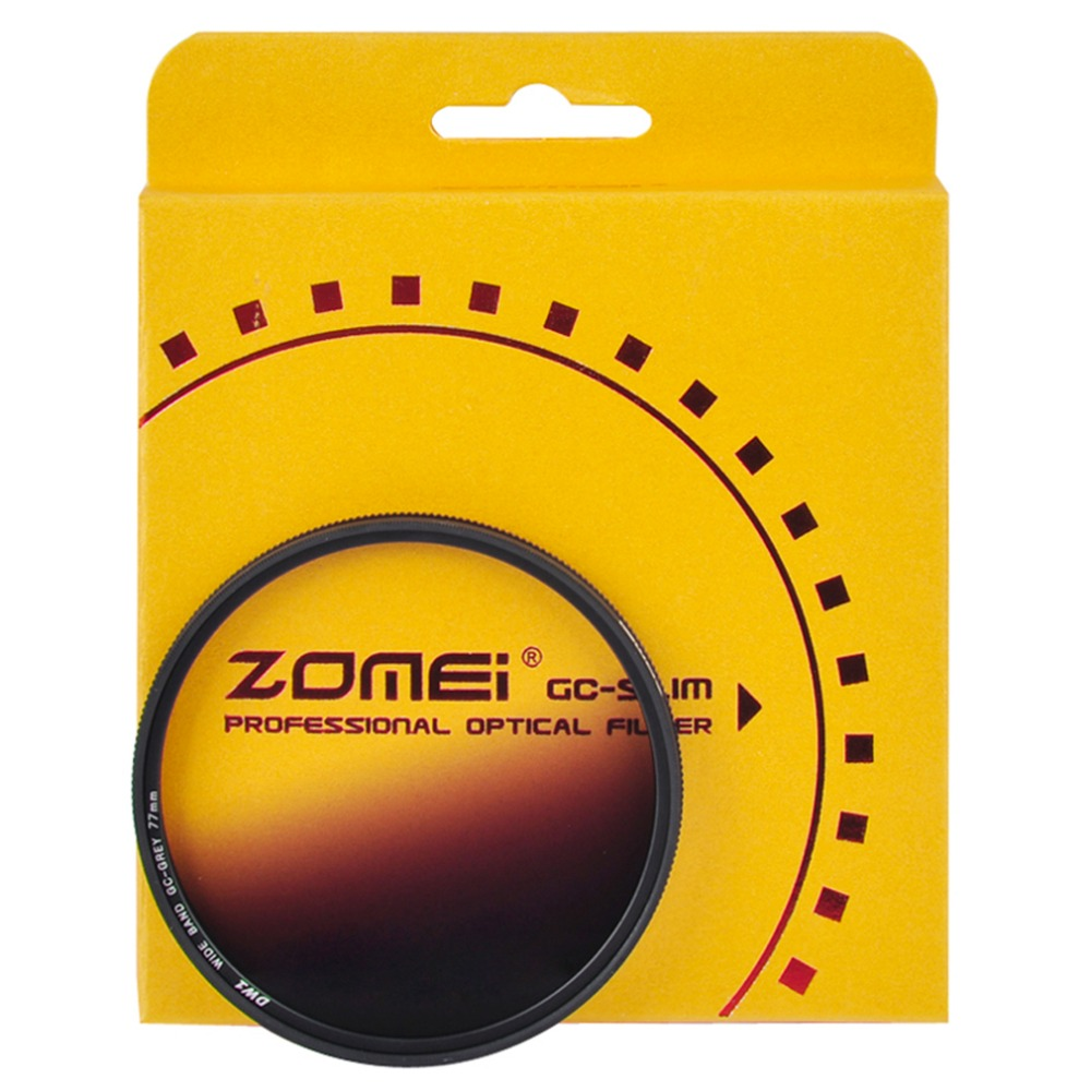Zomei Super Slim Lightweight Graduated Grey Neutral Density ND Optical Filter For Camera 49mm 52mm 58mm 67mm 72mm 77mm 2