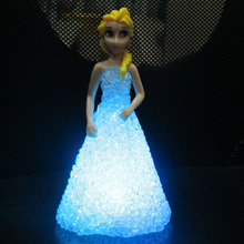 Princess Lights Little Girl Best Birthday Gift Elsa & Anna Princess Dress Color Change Party Night Light