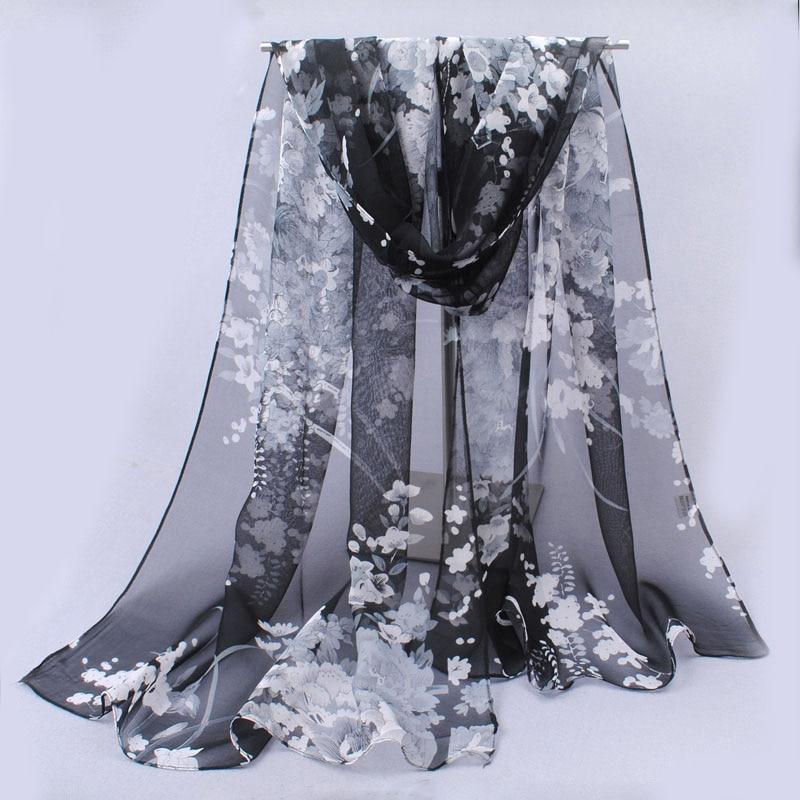 chiffon scarf 281-BK
