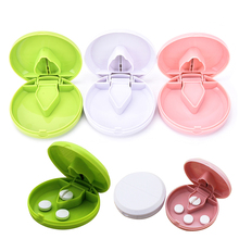 1Pc Portable Organizer For Medicine Splitter Hold Storage Box Pill Tablet Pill Cutter Divider