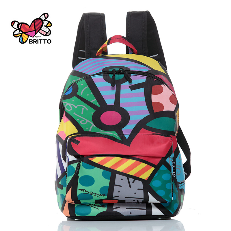 2016 Famous Fashion Backpack Graffiti Travel Bag New Design graffiti Style Retro Backpack &amp; Shoulders Bag Youth Doodle Backpack<br>