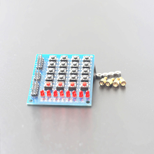 4X4 Matrix Keyboard For Arduino Array Module 16 Key Push Buttons Tastatur Switch Keypad Panel 4*4 Tasten 8LEDs Accessory DIY Kit