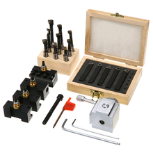 5pcs Mayitr Quick Change Tool Post Holder + 9pcs 3/8 Boring Bar + 5pcs 3/8 Turning Tool Holder with Wrenches