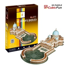 Kingtoy 3 D puzzle toy St.peter's cathedral educational toys free shipping Child Diy Toy