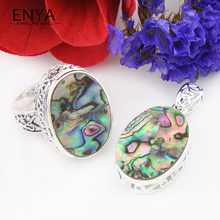 ENYA Russia USA Hot Sell Vintage Style Fashion Jewelry Sets Natural Abalon Shell Ring & Pendants High Quality