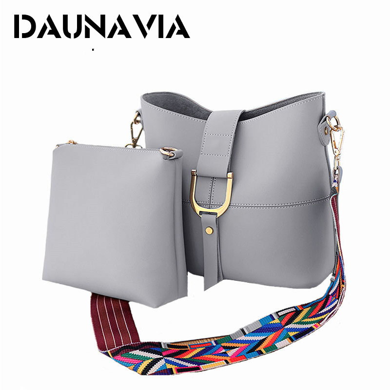DAUNAVIA 2017 Women Famous Brands Wide Shoulder Straps Bag New Women Bag Fashion Women Messenger Bags Handbags Bolso<br>