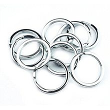 New Shiny 50Pcs/Pack Metal Key Holder Split Rings Keyring Keychain Keyfob Accessories 1.5*25MM(China)