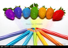 mixed color 1000pcs rain bow strawberry seeds fruit Multi-color strawberries seeds flower seed garden balcony DIY Garden bonsai