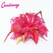 2017 New Arrival Peach Pink Hair Ornaments Headwear Flower Women Fashion Hairpins Hair Clip For Girls Hair Headdress Accessories