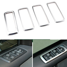 4pcs Chrome Car Door Window Button Panel Cover Decoration For Land Rover Discovery 4 LR 2006-2014 Interior Accessories