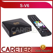 1PC Original open V6 S-V6 Satellite Receiver/ TV Box Support 2 USB WEB TV Card Sharing Youtube(China)