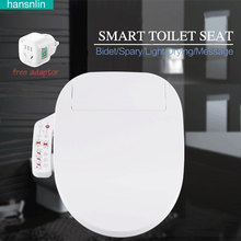 Smart toilet seat Washlet Elongated Electric Bidet cover intelligent bidet toilet seats heating sits led lightwc asiento inodoro(China)