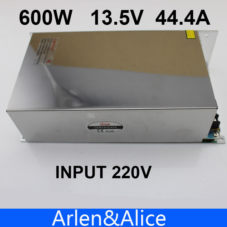 600W 13.5V 44.4A 220V input Single Output Switching power supply  AC to DC<br><br>Aliexpress