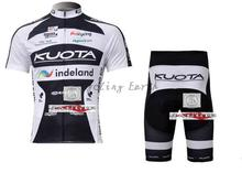 3D Silicone!!! 2010 KUOTA short sleeve cycling clothes short sleeve bicycle bike riding short jersey+pants(China)