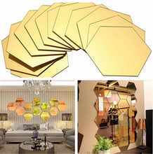 12 Pcs 3d Diy Acrylic Mirror Hexagonal Wall Stickers Home Decor Sticker Most Modern Vinilos Paredes DIY Home Decorations 5ZCF003