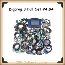 2016 v4.94 version Odometer Programmer Digiprog III Multi-language Digiprog 3 with all adapter Digiprog3 full set Free Shipping