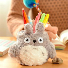 Cute Kawaii Plush Pen Pencil Holder Case Storage Holder Desktop Decor Gift Student Stationery School Office Supply(China)