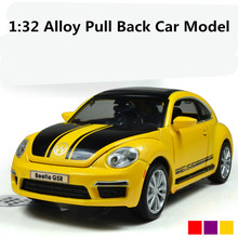 Best sale, special 1:32 alloy car Full back model toy, Diecasts car toys, Beetle GSR Model,free shipping(China)