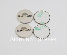10PCS/LOT FREE SHIPPING wholesale metal phone sticker RadiSafe anti Radiation shield for Cell Phone quantum shield cell phone
