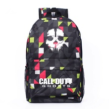 New Fashion Call Of Duty Ghosts Plaid Backpack Boy School Bags For Teenagers Game Canvas Backpacks Casual Daily Backpack