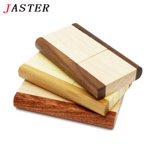 JASTER Original rotatable Wooden usb flash drive pendrive 4GB 8GB 16gb 32gb memory stick usb creativo Festival Gifts U disk