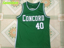 2018 New Mens Cheap Throwback Basketball Jerseys #40 Shawn Kemp Concord High School Minutemen Retro Basketball Jersey(China)