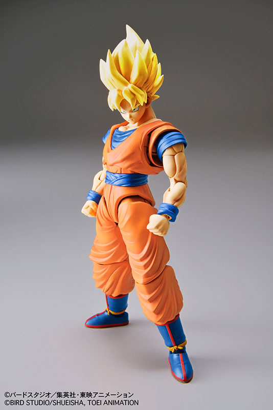 Dragon Ball Z Original BANDAI Figure-rise Standard Assembly Action Figure - Super Saiyan Son Goku Plastic Model<br>