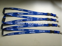 "BUY Quality Royal Blue 3/4"" Width Neck Lanyard With WhiteWords Print Cheap Gift Safety Released Buckle heat transfer neck Strap"