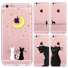 Love Cute Cat Back Cases Cover for Apple iphone 5 5s SE fundas Soft Sillicon Transparent TPU Mobile phone case bags shell coque