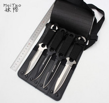 LLxxmm 4 Pcs/lot Stainless Steel Military Diving Hunting Knife Outdoor Sports Survival Tactical Camping Knife Leather Sheath(China)