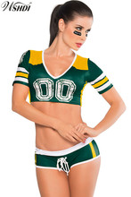 Fantasy Football Baby Costume Sexy Short Sleeve Sports Cheerleader Uniform Cheer Girls Cheerleading Costumes Tops and Pant(China)