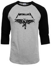 Camisetas Masculina Classic Heavy Metal Metallica Rock Men T - Shirt for Men 2017 New raglan Sleeve 100% Cotton Casual Top Tee