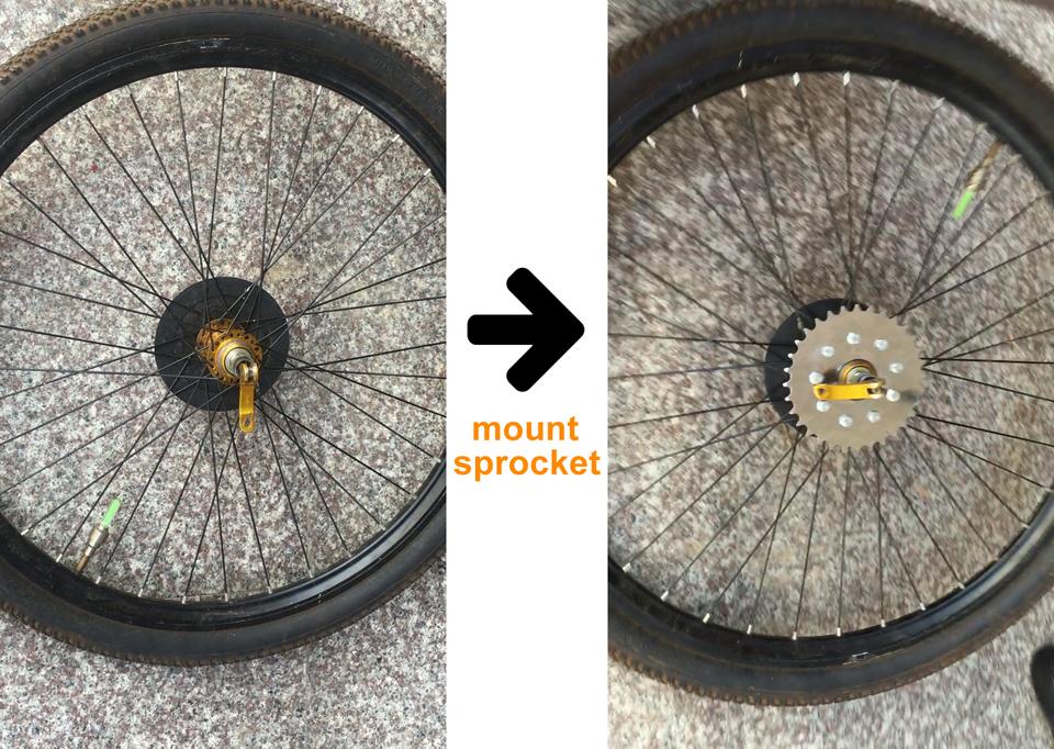 electric bike rear wheel spokes sprocket -3-a