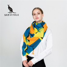 Scarves For Women Scarf Winter Winter Silk Cape Palestine Accessories Chiffon Apparel Woman Luxury Brand Cashmere Plaid Pashmina(China)