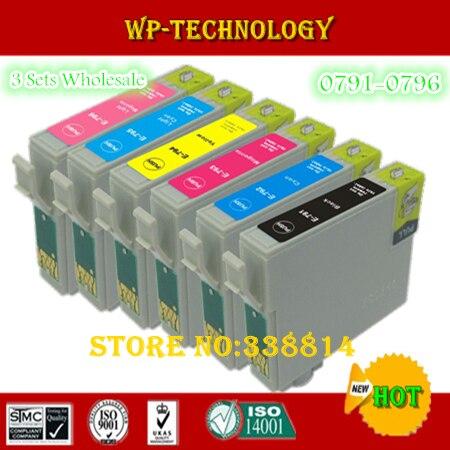 18PK  Compatible ink cartridges suit for T0791 - T0796 , E-791 suit for Epson  1400W 1500W P50 1430 800FW 810FW etc<br><br>Aliexpress