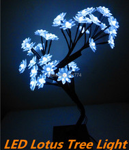 Fairy LED cherry lotus tree Night lights desk table lamps indoor lighting home Christmas new year wedding Luminaria decoration(China)