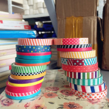 18 pcs/Lot 7mm Slim washi tape pack Scotch masking sticker for album notebook scrapbooking Deco tapes Zakka Stationery F872