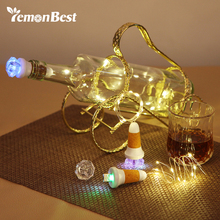 100CM USB 10-LED Bottle Light Copper Wire String Lights Rechargeable Lamp Christmas Decoration for Home Fairy Valentines Wedding(China)