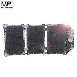 ALLPOWERS новейший 21 Вт солнечная панель солнечные батареи Dual USB Солнечная зарядные устройства телефон зарядка для sony телефон iPad