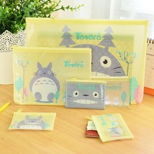 1 pcs New Women Portable Cute totoro Multifunction Beauty Zipper Travel Cosmetic Bag Makeup Case Toiletry Pouch Pen Purse bags