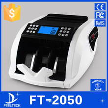 FT2050 110V/220V EU/US PLUG New LCD Display Money Bill Counter Counting Machine Counterfeit Detector UV & MG Cash Bank