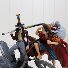 15CM - 22cm One Piece Luffy and Mihawk Sabo Law Ace Zoro PVC Action Figure Collection Toy retail