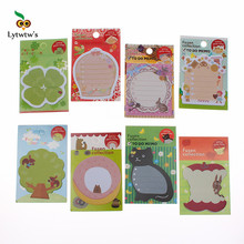 1 Piece Lytwtw's New Korean Kawaii Memo Stickers Sticky Notes Message Pad Cute Animal Post it Diy Office School Stationery