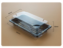 100 sets Japanese-style Clear Plastic lunch box Dinnerware boxes Disposable Lunch Container Sushi Box Take away(China)