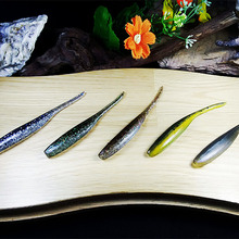 WALK FISH 8PCS/Lot 80mm 1.9g Fishing Soft lure Silicone Bait Drive Shad Double Colors Fishing Lure Soft Artificial Bait(China)